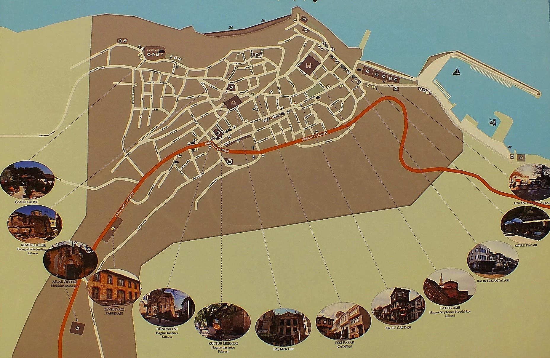 Tirilye Gezisi Haritası